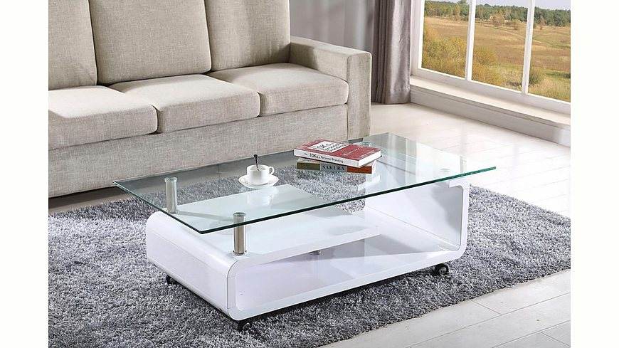 ATLANTIC HOME COLLECTION Couchtisch auf Rollen