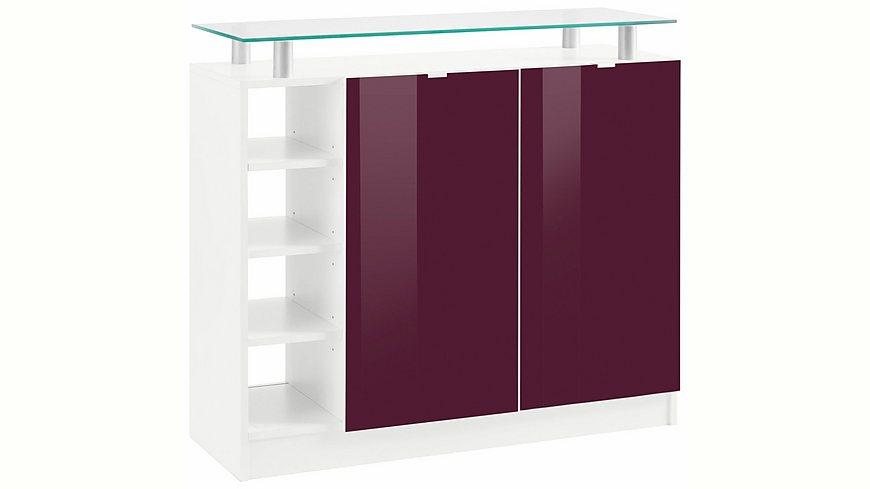 Borchardt Möbel Kommode, »Dolly« Breite 97 cm mit Glasablage