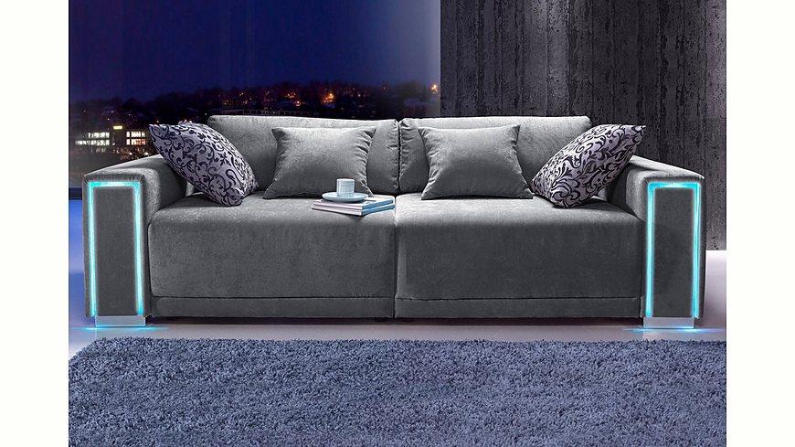 Collection AB Big-Sofa, Größe L - XXL, inklusive LED-RGB Beleuchtung, Energieeffizienz: A