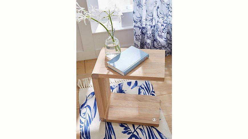 GMK Home & Living Beistelltisch «Anija», aus massiver Eiche, Breite 40 cm