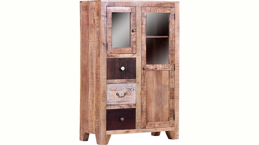 Gutmann Factory Highboard »Puno« massives Altholz Mango mit Schnitzereien
