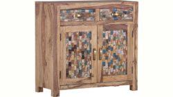 Gutmann Factory Kommode »Patchwork« aus massivem Sheesham Holz, Breite 92 cm