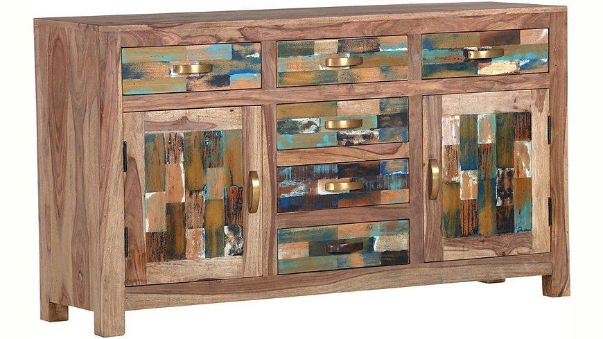 Gutmann Factory Sideboard »Patchwork« aus massivem Sheesham Holz, Breite 140 cm