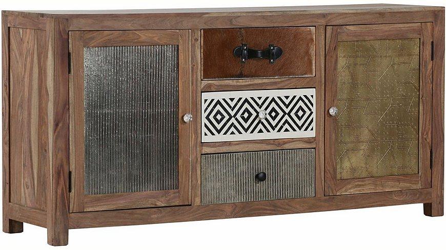 Gutmann Factory Sideboard »Safari« mit 2 Holztüren und 3 Schubladen mit verzierten Fronten