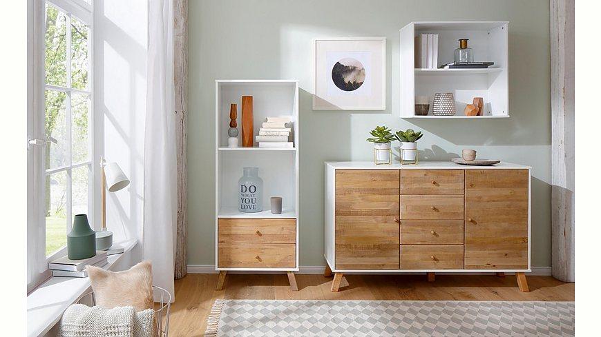 Home Affaire Hängeregal »Rondo«, aus Massivholz mit einem Einlegeboden, Breite 65 cm