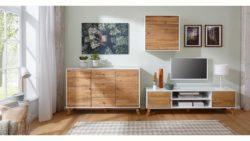 Home Affaire Hängeschrank »Rondo«, mit Holztür und einem Einlegeboden, aus Massivholz, Breite 65 cm