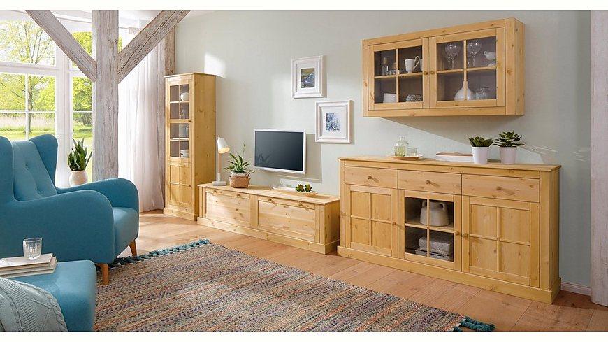 Home Affaire Hängevitrine »Cindy«, mit dekorativen Fräsungen und Glaseinsatz in den Türen, Breite 120 cm
