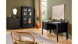 Home Affaire Kommode »Victoria«, 2 kleine und 3 große Schubladen mit schöner goldener Umrandung, Breite 92 cm
