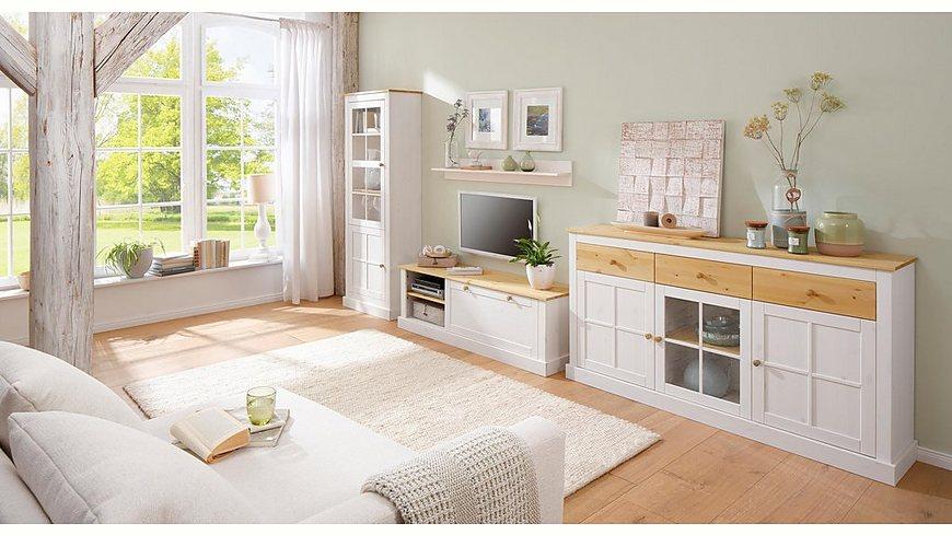 Home Affaire Lowboard »Cindy«, mit schönen Fräsungen und viel Stauraummöglichkeiten, Breite 140 cm
