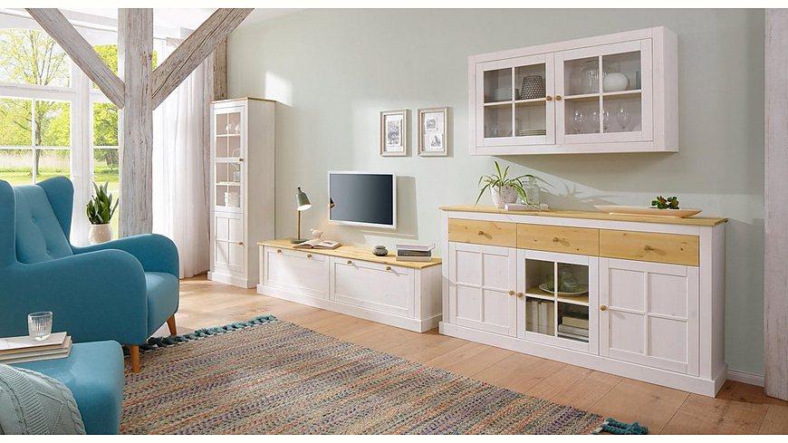 Home Affaire Vitrine »Cindy«, mit dekorativen Fräsungen und viel Stauraum, Höhe 175 cm