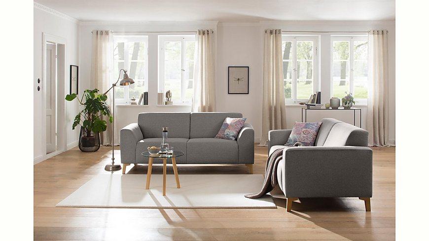 Home affaire 2, 5-Sitzer »Jaden« mit Federkern, Füßen aus Eiche