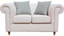 Home affaire 2-Sitzer »Charlotte« mit Keder, Zierkissen und gerundeten Armlehnen