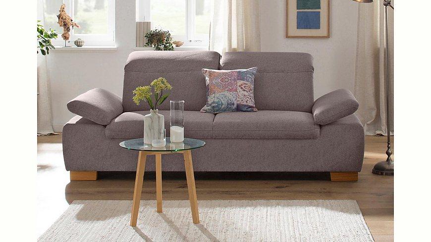 Home affaire 2-Sitzer »Maven« mit Kopfteil- und Armlehn-Verstellung, Federkern
