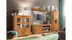 Home affaire 3-teilige Wohnwand »Laura«, mit 1 Vitrine, 1 TV-Lowboard und 1 Highboard