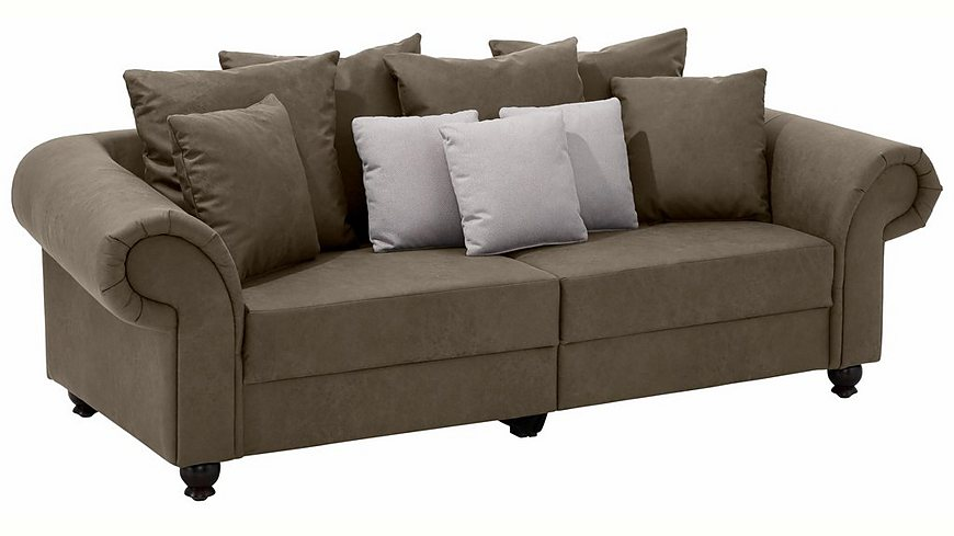 Home affaire Big-Sofa »King Henry«, in legerer Polsterung und vielen losen Kissen