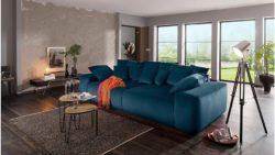 Home affaire Big-Sofa »Sundance« mit vielen Kissen, Breite 302 cm, Boxspring-Federung