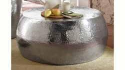 Home affaire, Couchtisch ( Beistelltisch) aus Aluminium in Hammerschlag-Optik