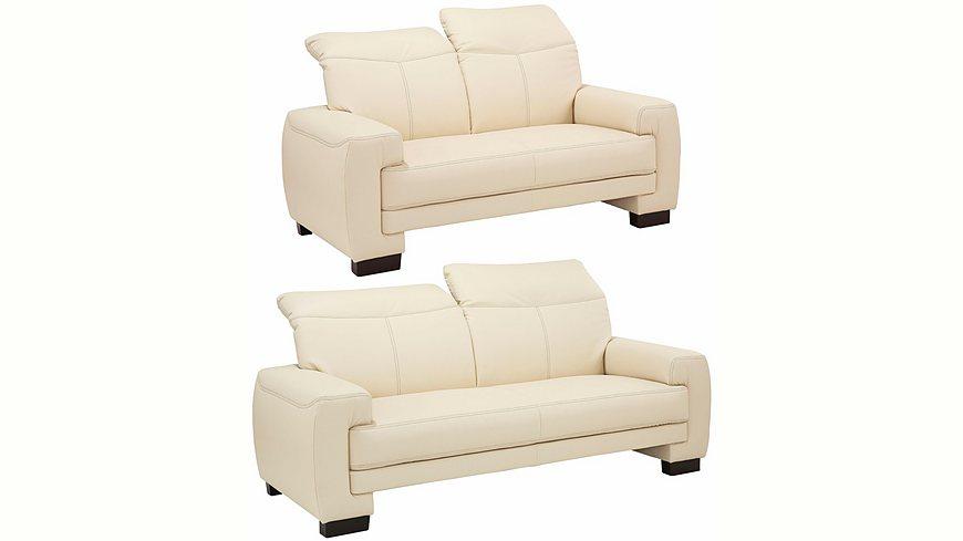 Home affaire Garnitur: bestehend aus 2-Sitzer und 2,5-Sitzer »Napoli« mit Kopfteilverstellung