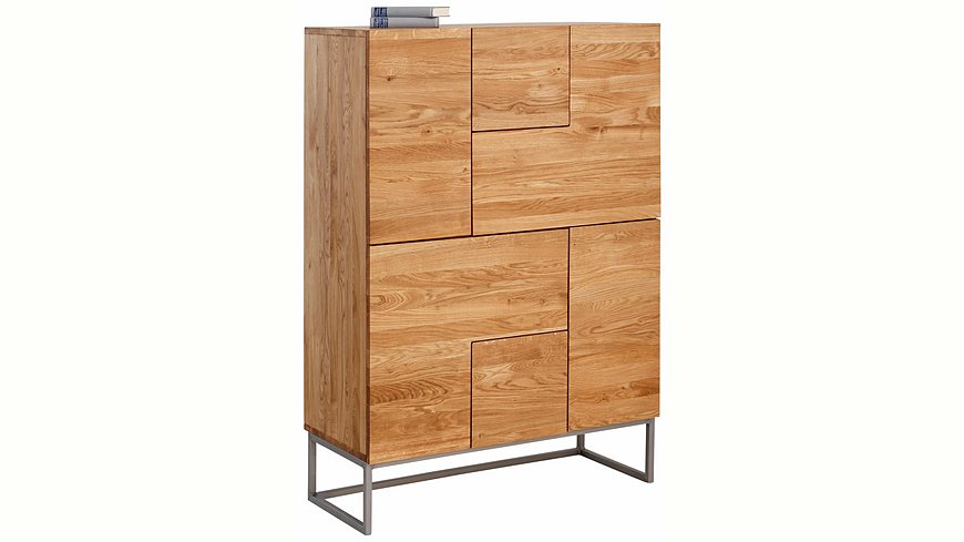 Home affaire Highboard »Svear«, Breite 100 cm aus massiver Eiche