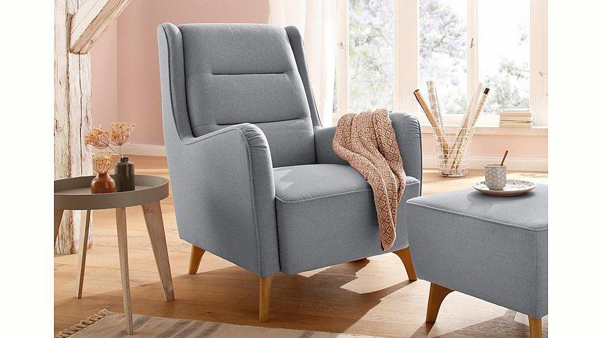 Home affaire Sessel »Lund«, wahlweise mit und ohne Hocker