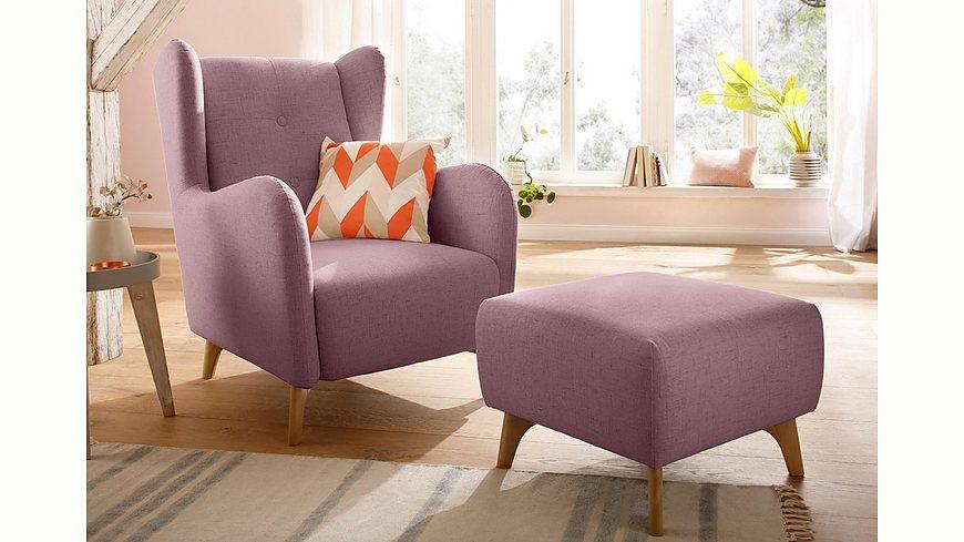 Home affaire »Stadil« Sessel, wahlweise mit und ohne Hocker