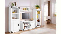 Home affaire Wohnwand (3-tlg.) »New Cheap« mit Metallbeschlägen