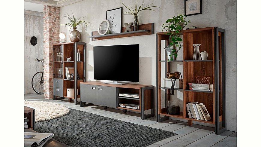 Home affaire Wohnwand (4tlg.) »Detroit Set 1«, im angesagten Industrial Look
