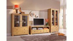 Home affaire Wohnwand »Gotland«, bestehend aus 1 Highboard, 1 TV-Lowboard und 1 Vitrine