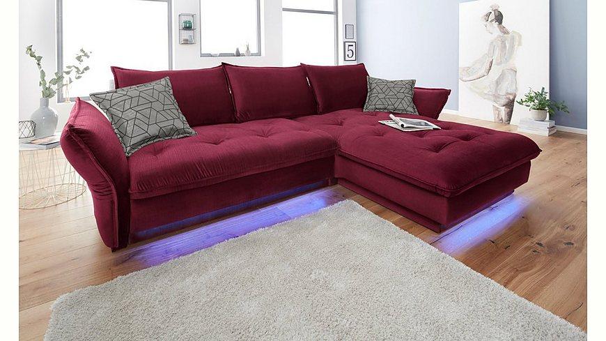INOSIGN Polsterecke »Palladio«, wahlweise mit Bettfunktion und Ambiente RGB-LED Beleuchtung