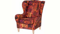 INOSIGN Sessel in samtartigem Bezug, mit und ohne Hocker