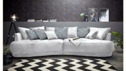 Inosign Big-Sofa »Vany« in gerundeter Optik mit vielen losen Kissen
