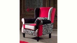 Inosign Sessel »Rainbow Zebra«, im Patchwork-Materialmix mit Zierkissen