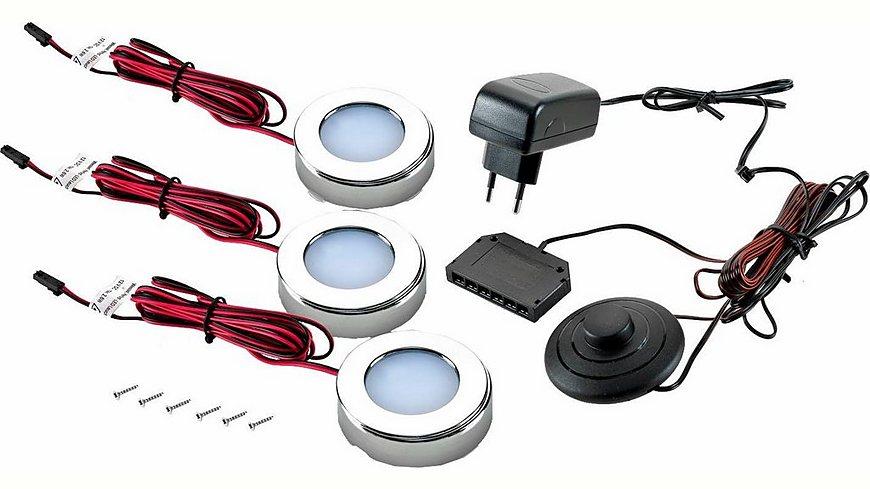 LED Unterbaustrahler 1er- 2er und 3er Set, Wessel, Energieeffizienz: A+