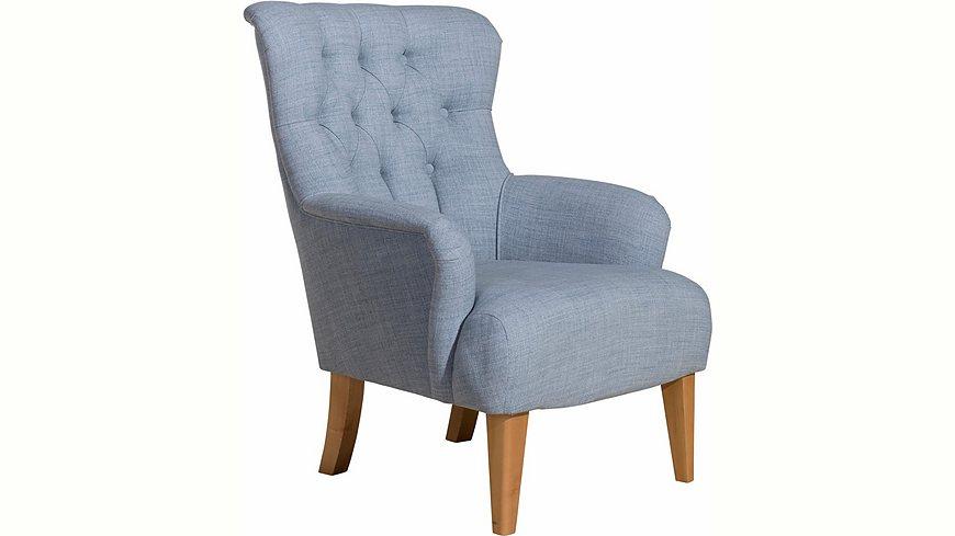 Max Winzer® Hochlehner Sessel »Bradley« im Chesterfield Stil, mit Rautenheftung im Rücken