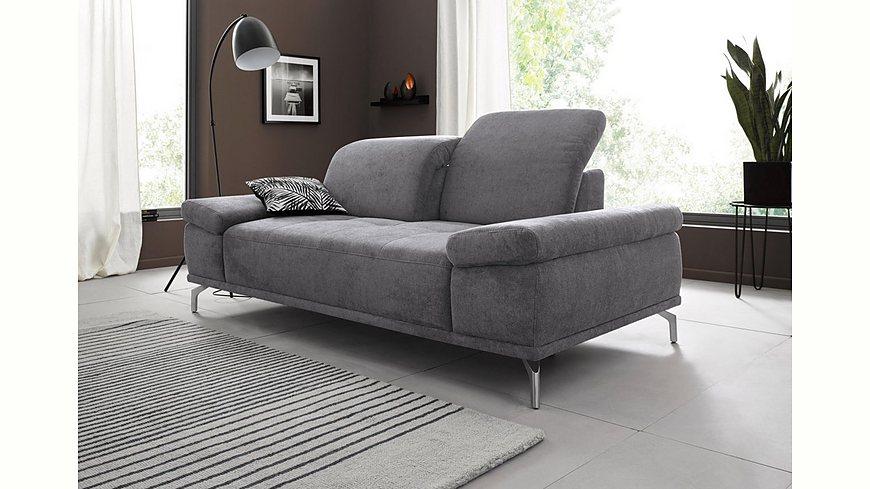Places of Style 2-Sitzer Sofa »Caluna« mit Sitztiefen- und Kopfteilverstellung