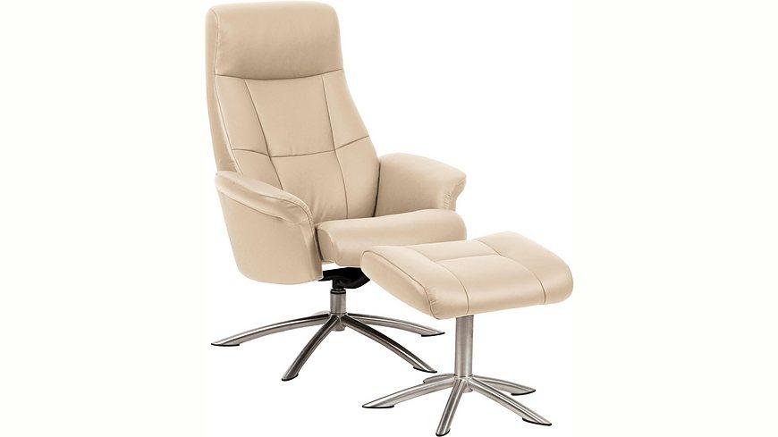 Places of Style Set: Relaxsessel mit Hocker »Scandi 120«, mit integrierter stufenloser Kopfpolsterverstellung