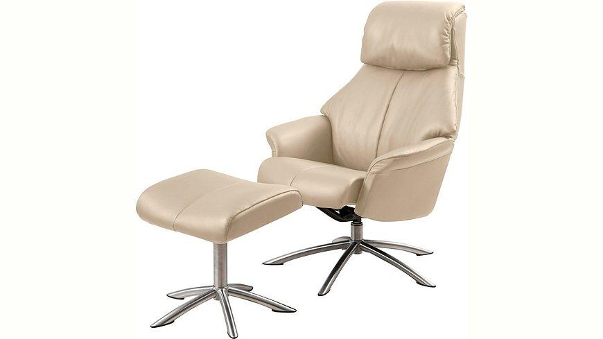 Places of Style Set: Relaxsessel mit Hocker »Scandi 150«, mit integrierter stufenloser Kopfpolsterverstellung