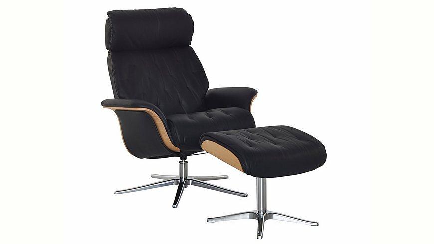 Places of Style Set: Relaxsessel mit Hocker »Space 59.59«, mit integrierter stufenloser Kopfpolsterverstellung