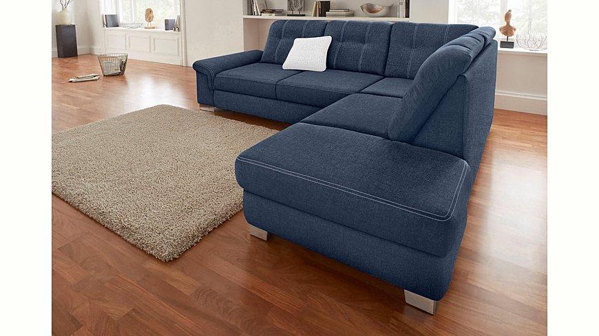 Polsterecke mit Sitztiefenverstellung, wahlweise mit Bettfunktion
