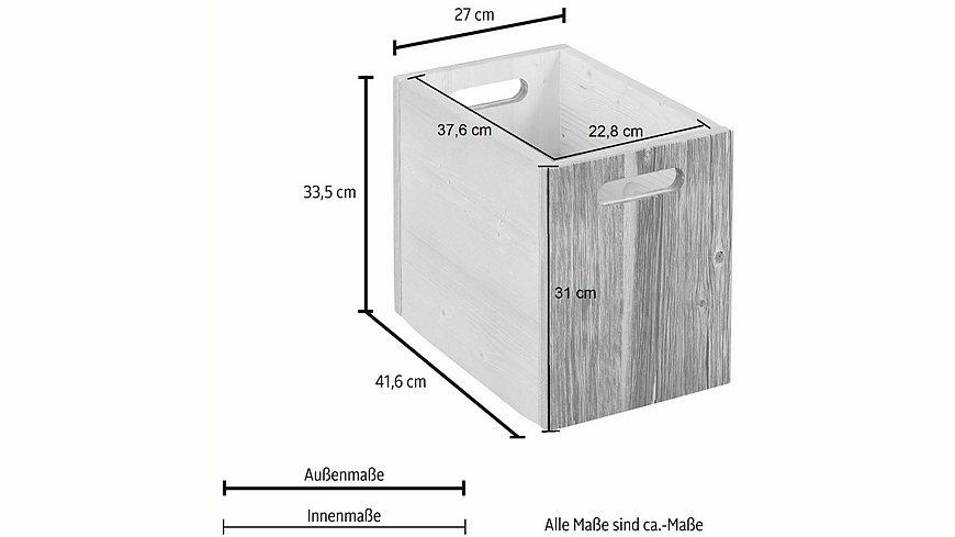 Premium Collection by Home affaire Aufbewahrungskasten »Jacob«, 1 Stck., Höhe 33,5 cm