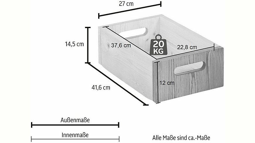 Premium Collection by Home affaire Schublade/Aufbewahrungskasten »Jacob«, 1 Stck., Breite 27 cm