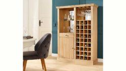 Premium by Collection Home affaire Weinregal »Gita« in hochwertiger Ausführung inklusive Beleuchtung und Spiegelrückwand