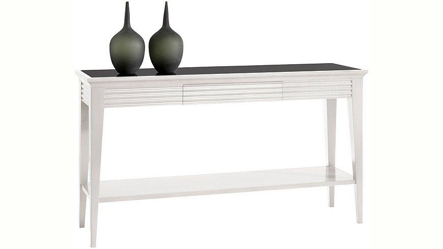 SELVA Konsole »Luna« Modell 4231, mit schwarz lackierter Glasplatte