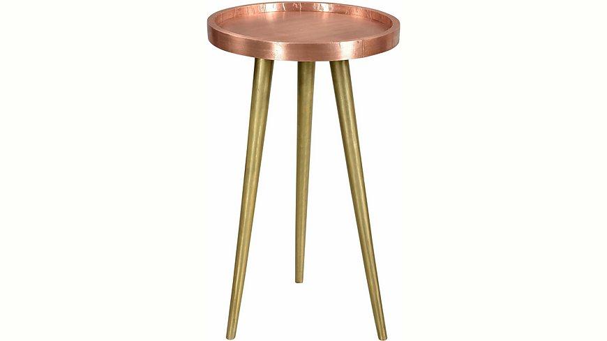 SIT Beistelltisch »This&That«, Tischplatte mit Kupfer oder Messing beschlagen