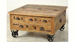SIT Couchtischtruhe «Rustic», im factory design, Breite 90 cm