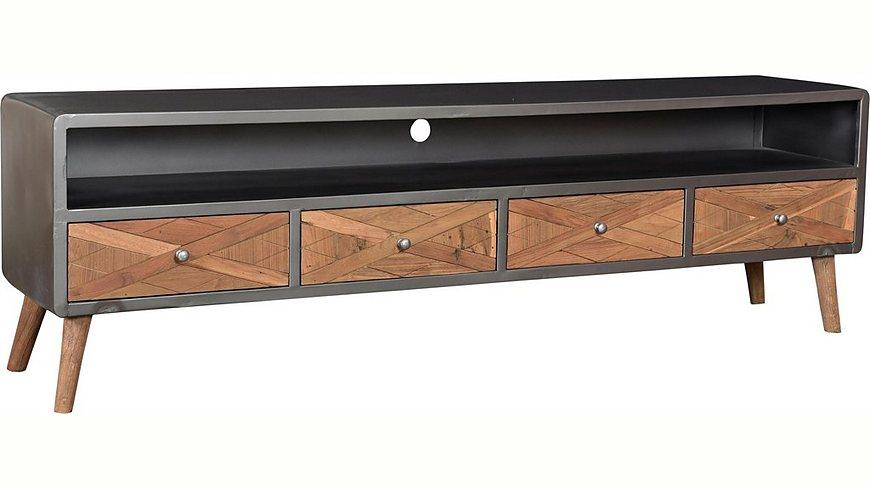 SIT Lowboard »CROSS« aus recyceltem Teakholz, Breite 200 cm