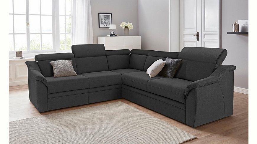 Sit & More Polsterecke mit Federkern, wahlweise mit Bettfunktion und Schubkasten