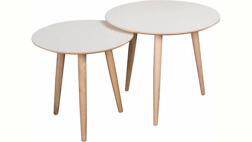 andas Couchtisch-Set «Yvonne», 2 runde Tische in 2 Größen zu Auswahl