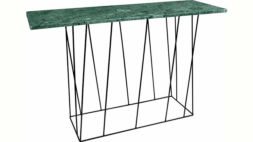 andas Konsolentisch »Helix« aus Marmor, wahlweise mit Gestell aus schwarzem oder grünem Metall