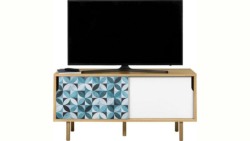 andas Sideboard »Dann«, aus Massivholz mit Blumenmusterfronten, Breite 135 cm